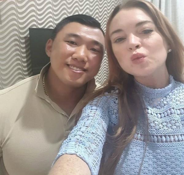 Lindsay Lohan e Je Yong Ha, coreano que vem sendo apontado como seu novo affair  (Foto: Reprodução Instagram)