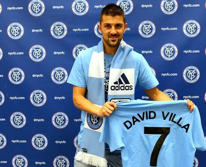 David Villa acerta com o Nyc fc dos EUA (Foto: Reprodução / Twitter)