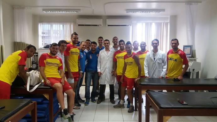 Jogadores América-RN - avaliação física na UFRN (Foto: Divulgação/América-RN)