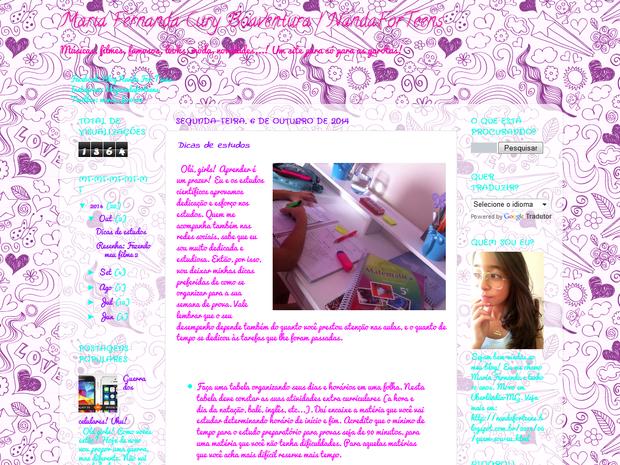 Blog Maria Fernanda Uberlândia (Foto: Reprodução / Internet)