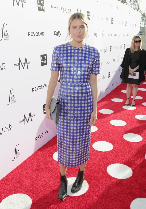 |Dree Hemingway no Los Angeles Fashion Awards (Foto: AFP)