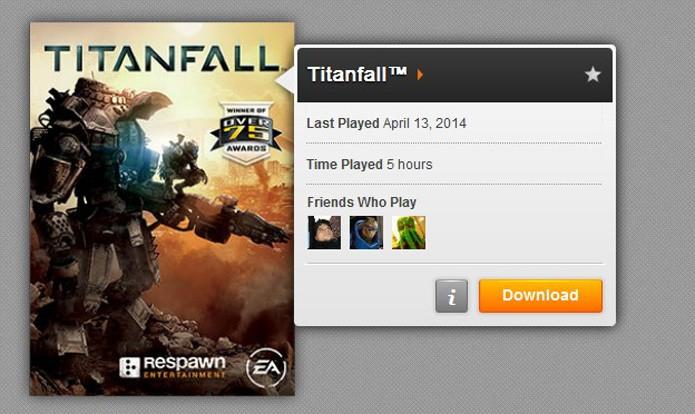 Selecione o download do game (Foto: Reprodução/André Mello)
