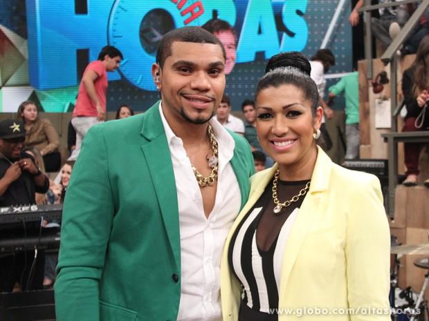 Naldo e Ellen Cardoso participam do Altas Horas deste sábado (Foto: TV Globo/Altas Horas)