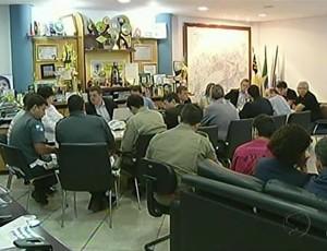 Reunião em Volta Redonda, RJ, define detalhes para as semifinais no Raulino de Oliveira (Foto: Reprodução/ TV Rio Sul)