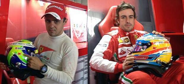 Fernando Alonso Felipe Massa Maria de Villota (Foto: Reprodução/Twitter)
