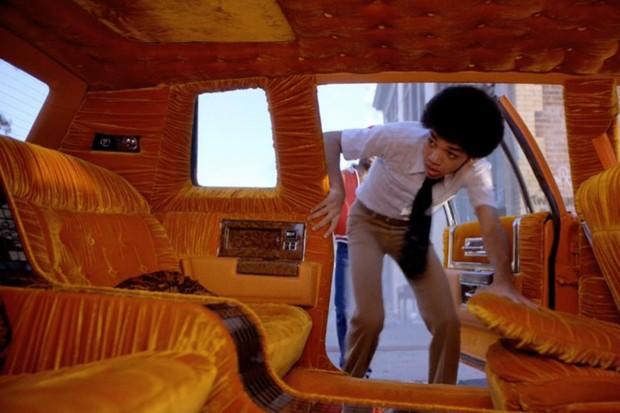 Interior mistura veludo, pelúcia e todo o espaço de um Cadillac Fleetwood (Foto: Reprodução)