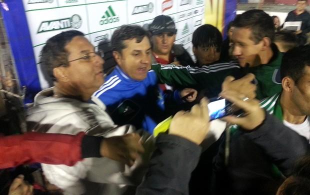 Gilson Kleina torcedores Palmeiras (Foto: Marcelo Hazan)