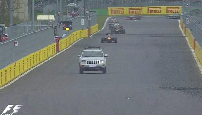 Picape entra na pista antes do Safety Car na Coreia do Sul