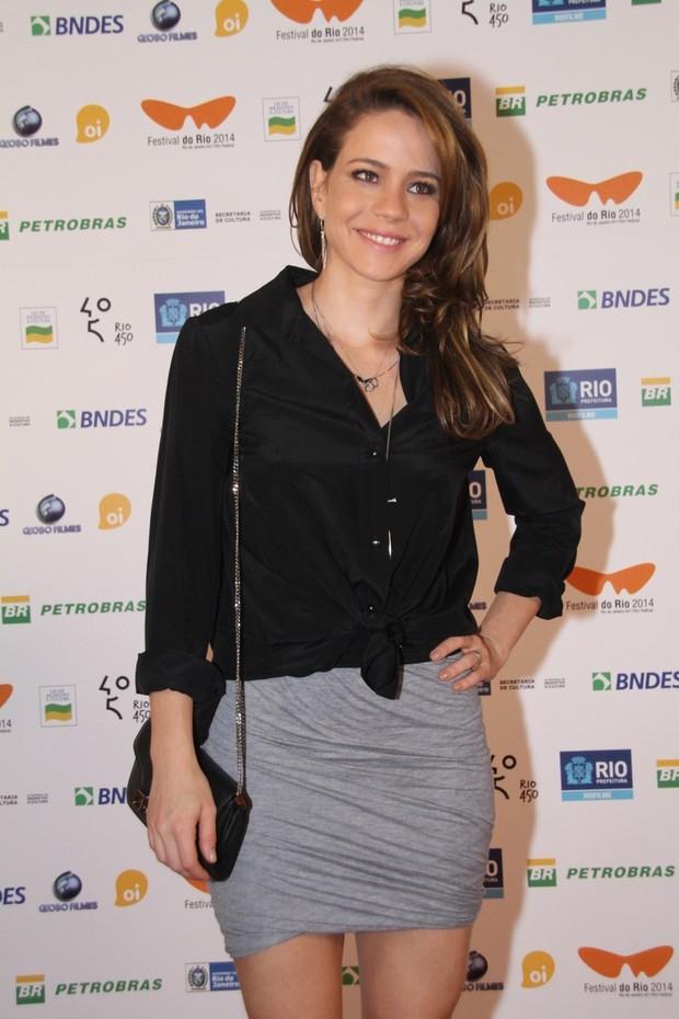 Leandra Leal em pré-estreia de filme no Rio (Foto: Graça Paes/ Foto Rio News)