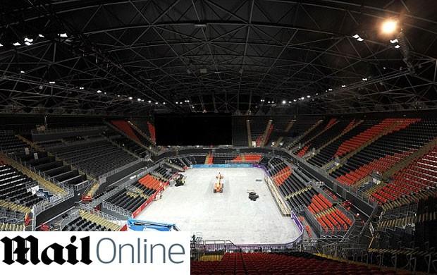 Arena de basquete de Londres (Foto: Reprodução)