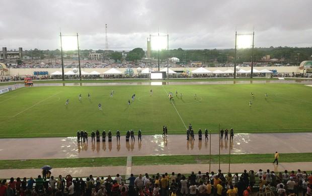 Visão geral do campo do estádio Zerão  (Foto: Cassio Albuquerque/GE-AP)