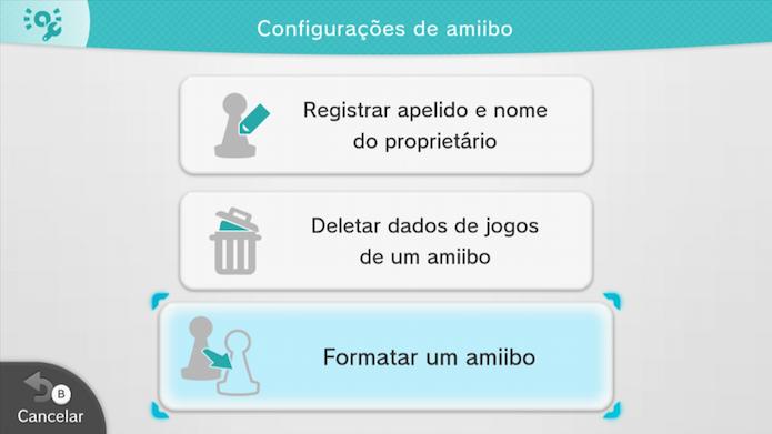Formate o Amiibo (Foto: Reprodução/Murilo Molina)