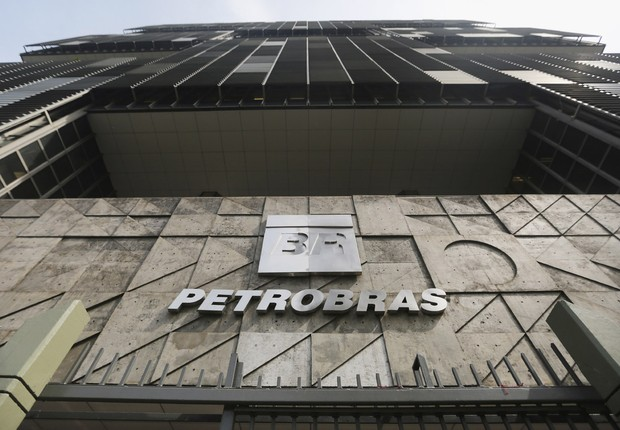 Logotipo na fachada da sede da Petrobras, no Rio de Janeiro (Foto: Mario Tama/Getty Images)