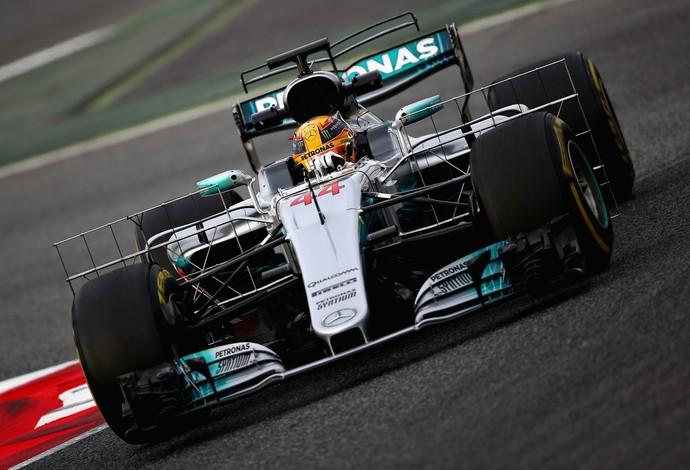 Mercedes, Lewis Hamilton, testes, Fórmula 1, Barcelona, 2017 (Foto: Getty Images)