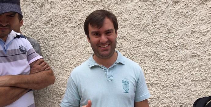 Pai de Arthur, Fabio levará o filho ao Fla-Flu no Pacaembu (Foto: Lucas Strabko)