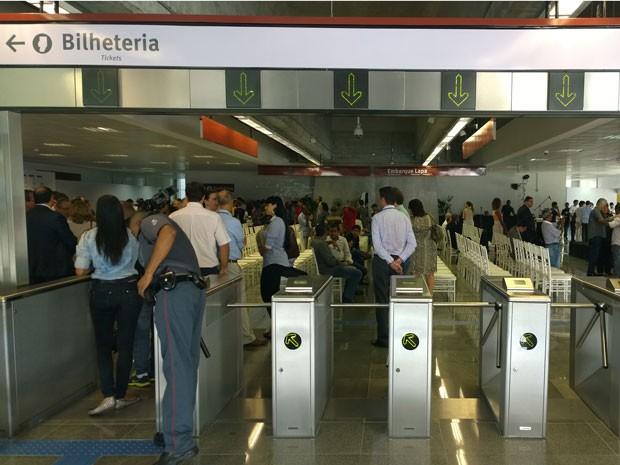 Estação Bom Juá foi inaugurada nesta quinta-feira, na capital baiana. (Foto: Maiana Belo / G1 BA)