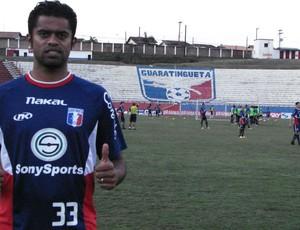 Fabrício Carvalho Guaratinguetá Guará Tricolor do Vale (Foto: Filipe Rodrigues/ Globoesporte.com)