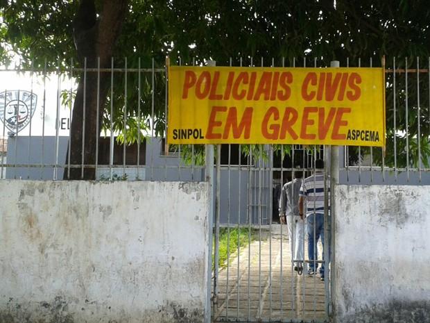 Policiais civis entraram em greve em todo o Maranhão (Foto: Divulgação / Sinpol-MA)
