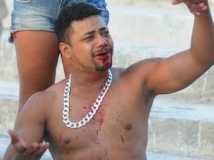 Torcedores de Botafogo-PB e Sport entraram em confronto (Foto: Aldo Carneiro / Pernambuco Press)
