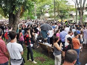 Candidatos fizeram neste domingo a primeira fase do Vestibular 2016 da UEL (Foto: Foto: Divulgação/UEL)
