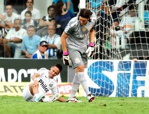 Neymar santos Cassio corinthians paulistão (Foto: Marcos Ribolli / Globoesporte.com)