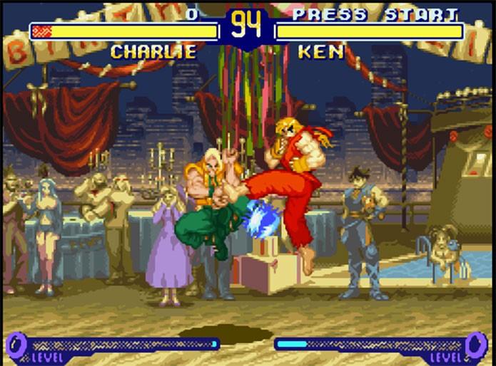 Street Fighter Alpha 2 tinha gráficos bons, mas carregamentos irritantes (Foto: Reprodução/EmuParadise)