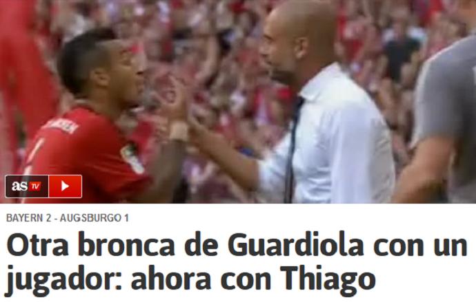 BLOG: Guardiola discute com Thiago Alcântara e empurra o filho de Mazinho
