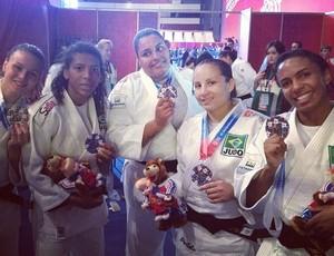 seleção feminina de judô prata world combat games (Foto: Reprodução/Instagram)