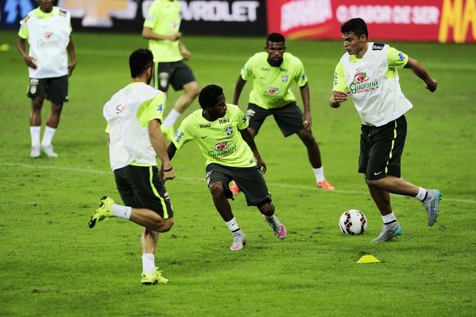 Treino da seleção brasileira na Arena Palmeiras (Foto: Marcos Ribolli)