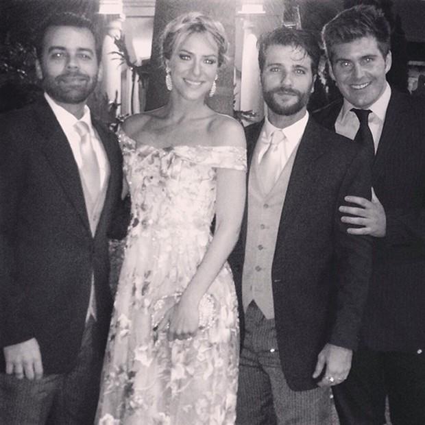 Pedro Tourinho, Giovanna Ewbank, Bruno Gagliasso e Thiago Gagliasso (Foto: Reprodução/Instagram)