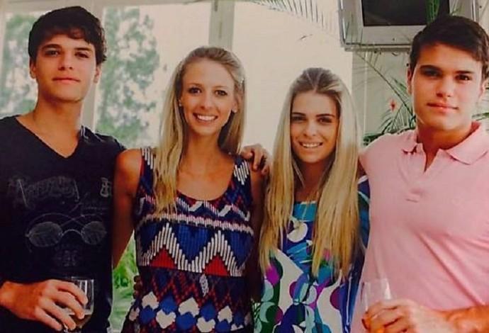 Manuel, Thaisa, Luiza e Pedro fizeram a marca na Áustria (Foto: Arquivo pessoal)