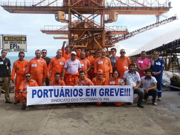 Portuários iniciam paralisação de três dias no RN (Foto: Divulgação/Sinporn)