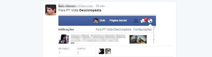 Mensagens sobre a Desciclopédia aparecem no Facebook (Foto: Reprodução)