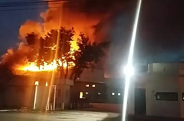 Incêndio nos Estúdios Globo (Foto: .)
