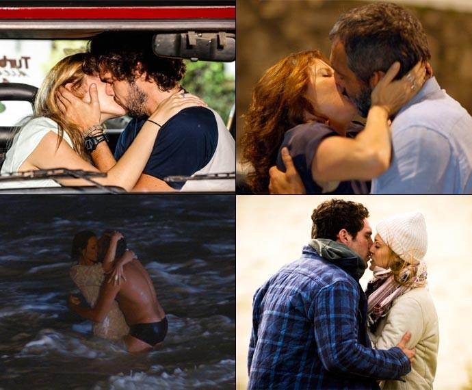 Os casais da trama protagonizaram momentos apaixonantes! (Foto: TV Globo)