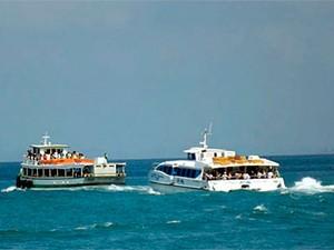 Travessia Mar Grande-Salvador é suspensa no início da manhã  (Foto: Divulgação/ Astramab)