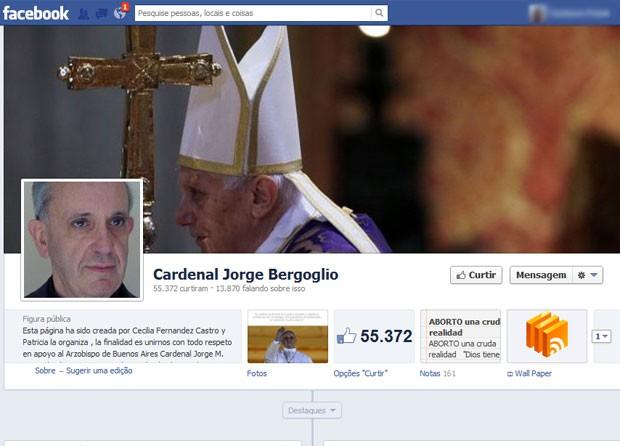 Papa Francisco I já tinha página no Facebook antes da escolha