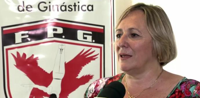 Roseane Zanetti, presidente da Federação Paulista de Ginástica (Foto: Reprodução SporTV)