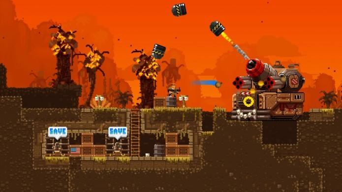 Broforce: game traz tiroteios intensos com boa dose de humor (Foto: Divulgação)