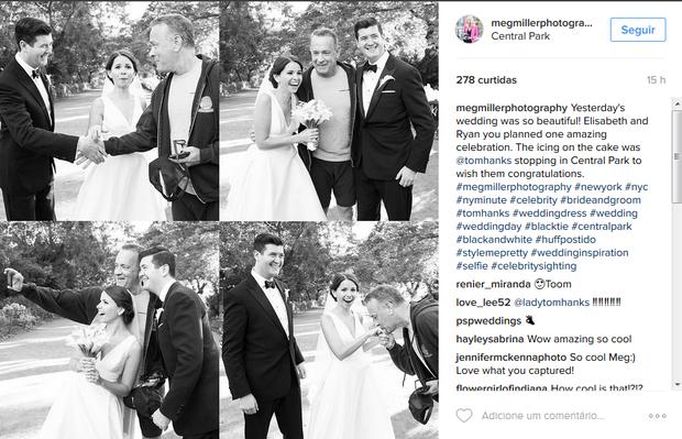 Tom Hanks invade casamento em Nova York (Foto: Reprodução/Instagram)