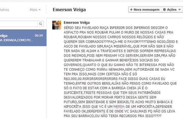 Policial disse que não leva fé que jovem faça denúncia à corregedoria da PM (Foto: Reprodução/ Facebook)