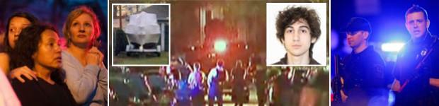 2º suspeito de atentado é capturado vivo (Reprodução/Globo News, Twitter, AFP/FBI e Reuters)