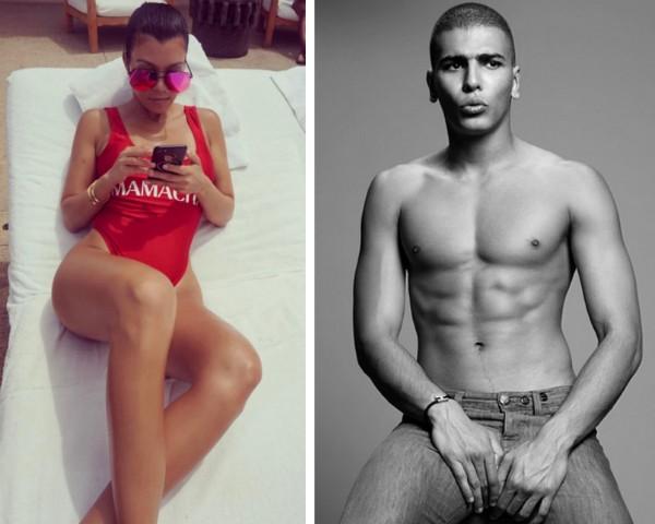 A socialite Kourtney Kardashian e o modelo Younes Bendjima (Foto: Instagram)