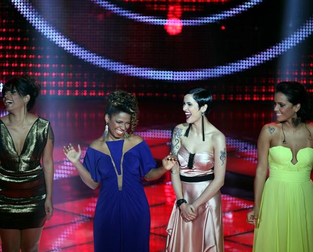 Nayra, Thallita, Bella e Ju Moraes (Foto: The Voice Brasil / Tv Globo)