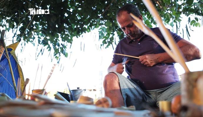 Boitatá produz artesanatos feitos por bambú (Foto: To Indo)