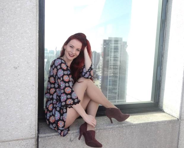 Manoela Firmo arrasa com o salto alto (Foto: Andréa Paiva/ Gshow)