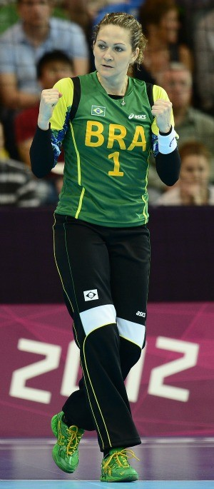 Handebol Chana Brasil x Croácia Londres (Foto: AFP)