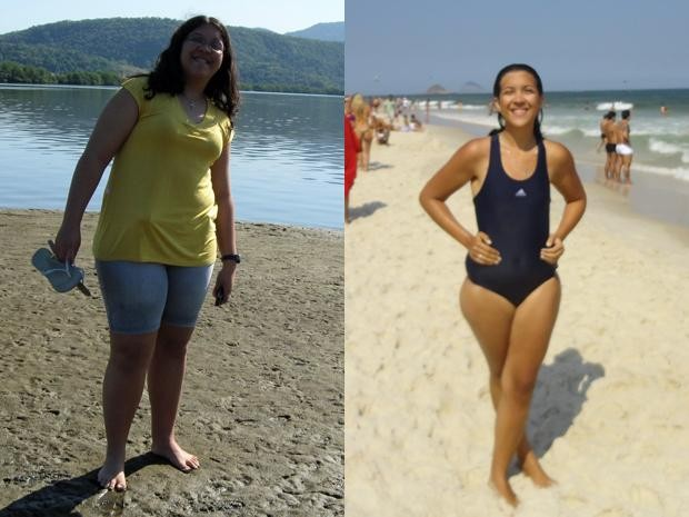 """""""Hoje me sinto melhor e mais disposta"""", conclui a estudante com seus 68 kg (Foto: Arquivo pessoal)"""