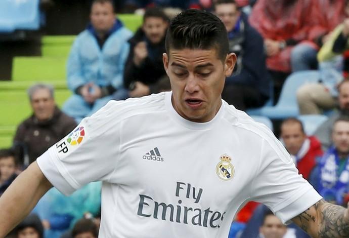 James Rodriguez Getafe x Real Madrid (Foto: Reuters)