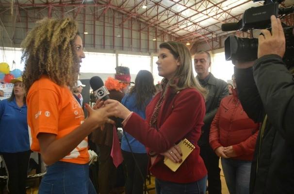 Globeleza Erika Moura participou da Ação Global em Panambi (Foto: Divulgação/RBS TV)